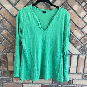 Gap Long Sleeve Green Tee